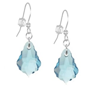 Jewelry by Dawn Sterling Silver Aquamarine Crystal Baroque Earrings