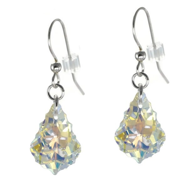 Jewelry by Dawn Sterling Silver Crystal Aurora Borealis Baroque Earrings