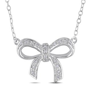 Miadora Sterling Silver Diamond Necklace (H-I, I2-I3)
