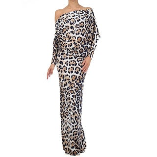 Tabeez Long Animal Printed Maxi Dress