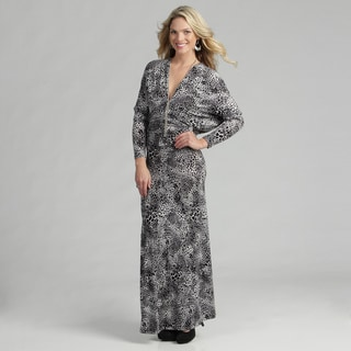 Tabeez Women's Animal Printed Maxi Dress