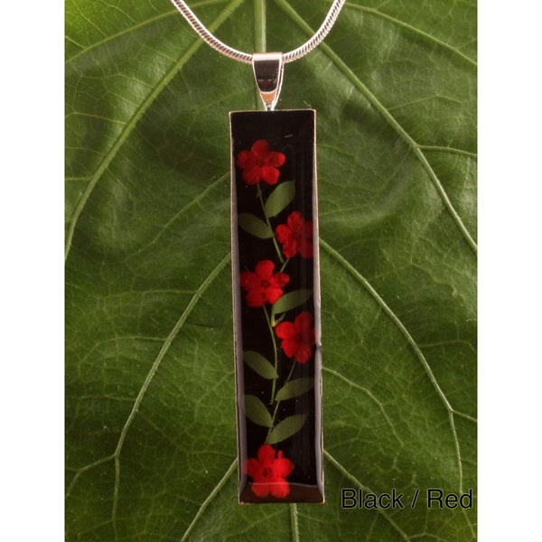 Silverplated Color Elder Flowers Bouquet Necklace (Mexcio)