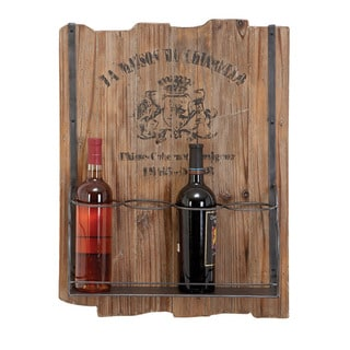 Casa Cortes Barware 4-bottle Rustic Wine Holder Rack