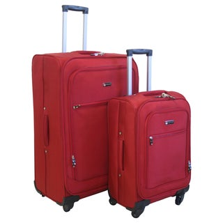 American Flyer Austin Quattro 2-piece Red Spinner Luggage Set