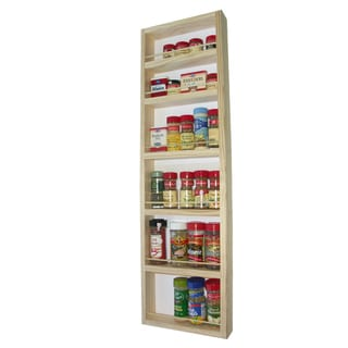 Solid Pine Wood 37-inch On-the-wall Spice Rack