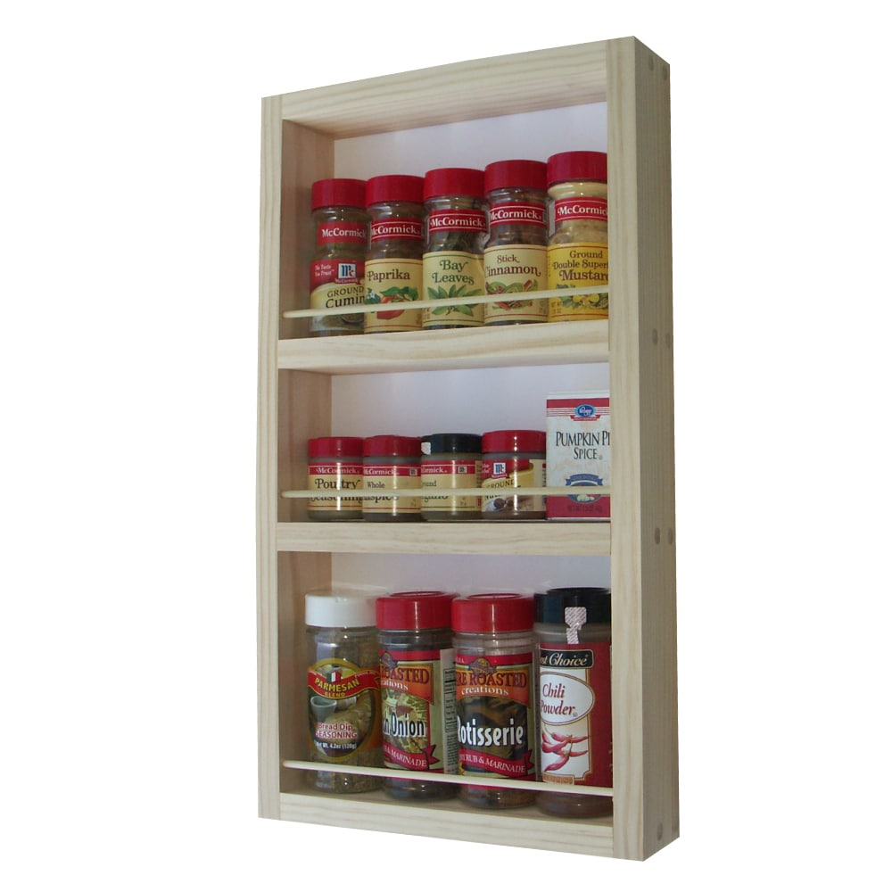 Solid Pine Wood 21-inch On-the-wall Spice Rack at Sears.com