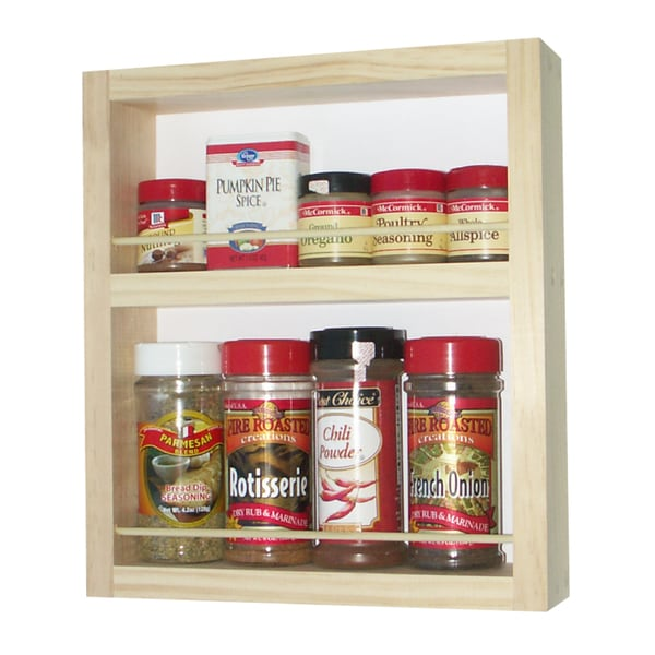 Solid Pine Wood 12-inch On-the-wall Spice Rack