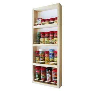 Solid Pine Wood 24-inch On-the-wall Spice Rack