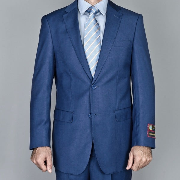 Men's Petroleum Blue 2-Button Suit
