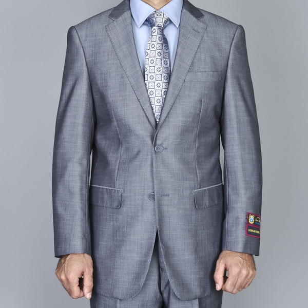 Men's Light Grey 2-Button Suit