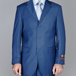 Men's Petroleum Blue 3-button Suit