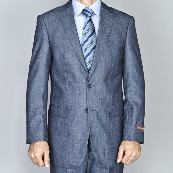 Men's Denim Blue 2-button Suit
