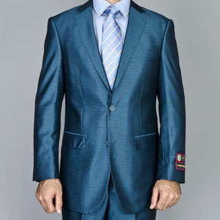 Men's Teal Green 2-button Suit