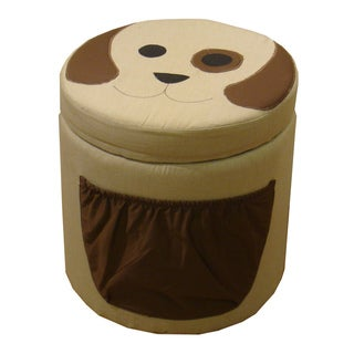 Kinfine Kid's Dog Design Round Storage Ottoman