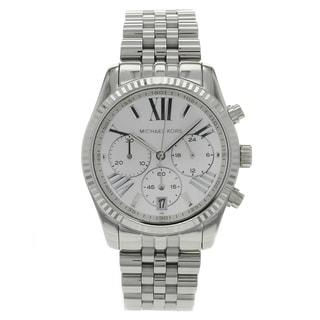 Michael Kors Women's MK5555 Lexington Silver Chronograph Watch