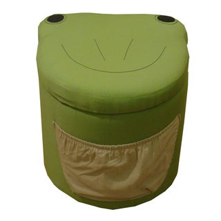 Kinfine Kid's Frog Design Round Storage Ottoman