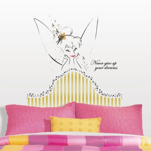 Disney Fairies Tinkerbell Headboard Peel and Stick Giant Wall Decal
