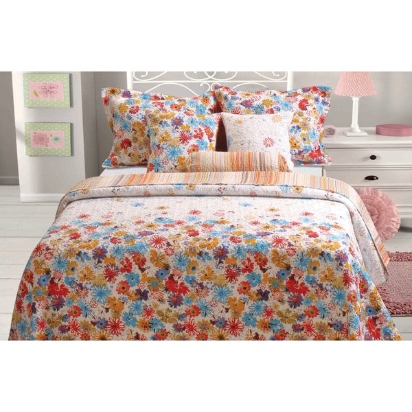 Greenland Home Fashions Euphoria 3-piece Quilt Set and Sham Separates