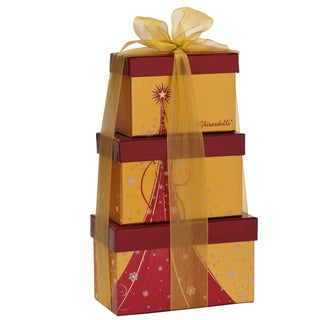 Ghirardelli Chocolate Gold Holiday Gift Tree Tower