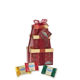 Ghirardelli Chocolate Holly Jolly Gift Tower