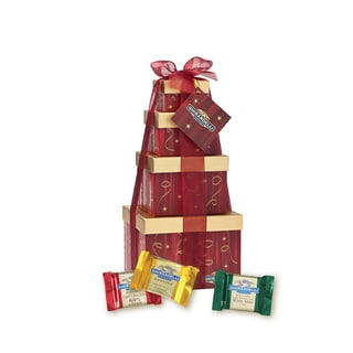 Ghirardelli Chocolate Festive Flavors Four Tier Gift Tower