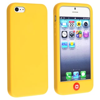 INSTEN Mango Yellow Soft Silicone Skin Phone Case Cover for Apple iPhone 5