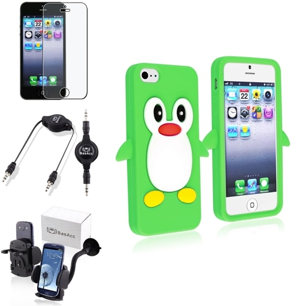 BasAcc Case/ Screen Protector/ Mount/ Audio Cable for Apple® iPhone 5