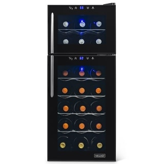 Newair Appliances Thermoelectric Black Wine Cooler with Blue LED