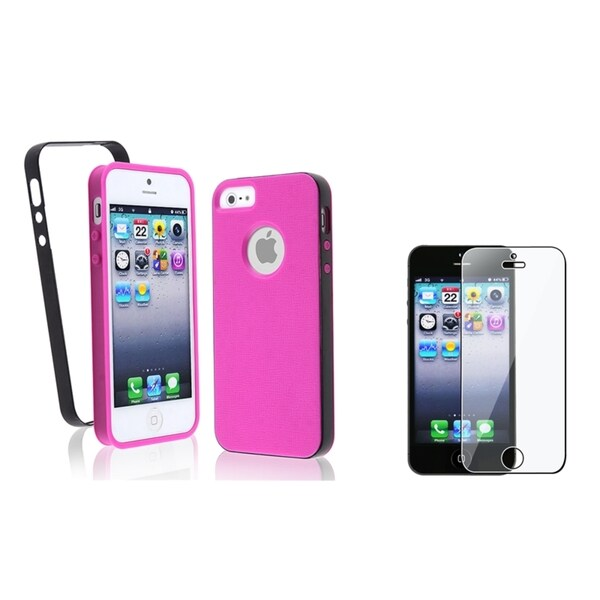 BasAcc Hot Pink TPU Case/ Screen Protector for Apple® iPhone 5