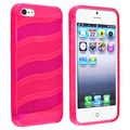 BasAcc Hot Pink Wave TPU Case for Apple iPhone 5