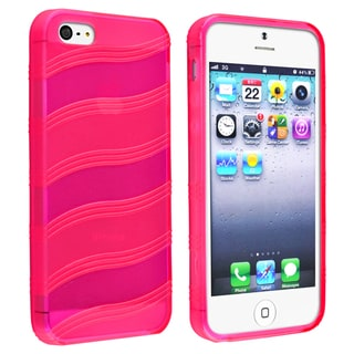 BasAcc Hot Pink Wave TPU Case for Apple� iPhone 5