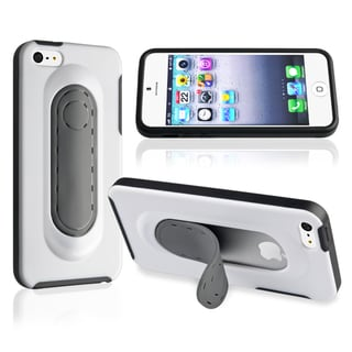 BasAcc Black Snap-on Kickstand Wrap Case for Apple� iPhone 5