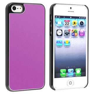 INSTEN Purple Frost Aluminum Snap-on Phone Case Cover for Apple iPhone 5
