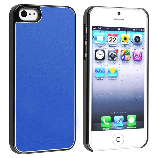 INSTEN Blue Frost Aluminum Snap-on Phone Case Cover for Apple iPhone 5