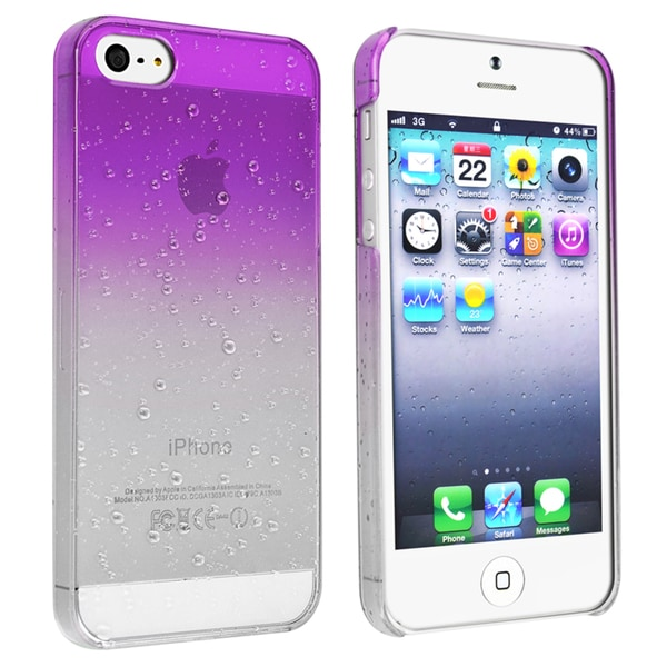 BasAcc Clear Purple Waterdrop Snap-on Case for Apple® iPhone 5