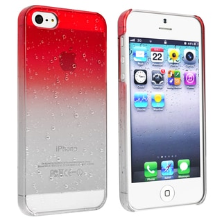 BasAcc Clear Red Waterdrop Snap-on Case for Apple� iPhone 5