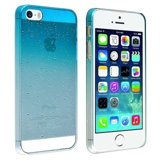 INSTEN Clear Sky Blue Waterdrop Snap-on Phone Case Cover for Apple iPhone 5/ 5S