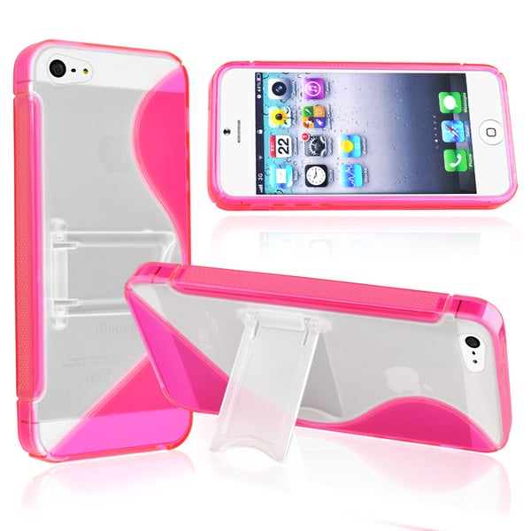 BasAcc Hot Pink S Shape TPU Case for Apple® iPhone 5