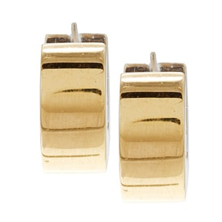 18k Two-tone Gold Torino Estate Cuff Earrings