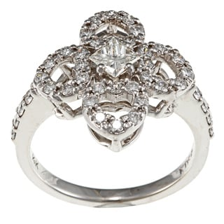 14k White Gold 4/5ct TDW Diamond Estate Ring (H-I, VS1-VS2)