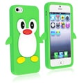BasAcc Green Penguin Silicone Skin Case for Apple iPhone 5