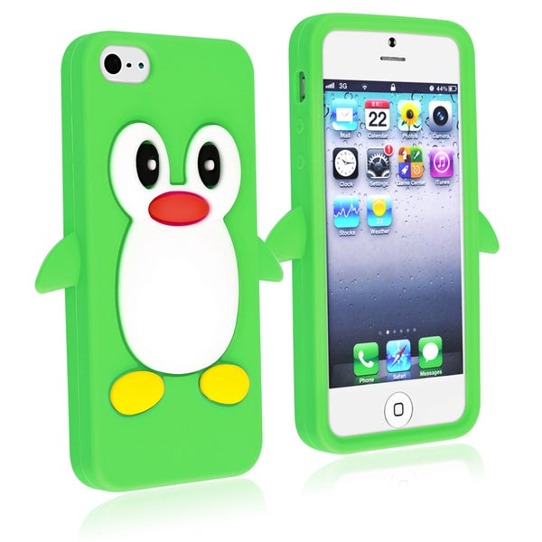 BasAcc Green Penguin Silicone Skin Case for Apple® iPhone 5