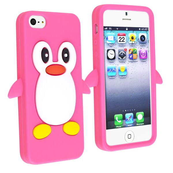 BasAcc Hot Pink Penguin Silicone Skin Case for Apple® iPhone 5