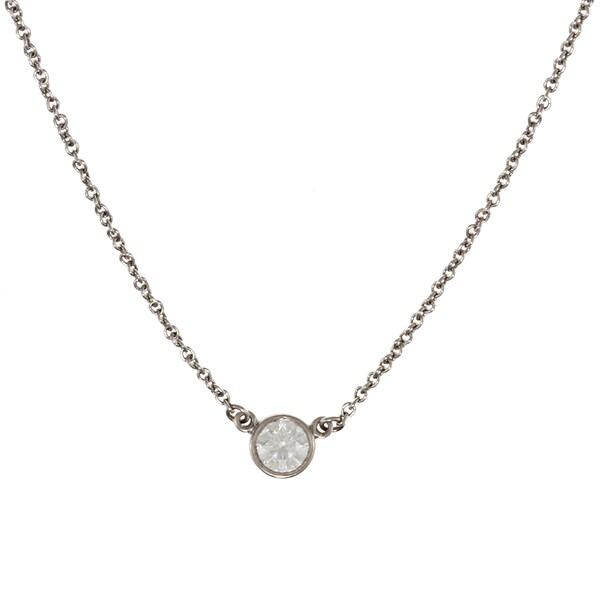 Tiffany & Co. Platinum 1/5ct TDW Diamond Elsa Peretti Necklace (E, VS1)