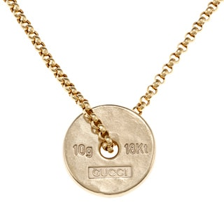 Gucci 18k Yellow Gold 10-gram Ingot Estate Necklace