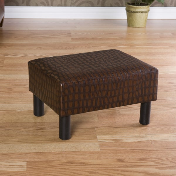 Alligator-embossed Foot Stool Ottoman