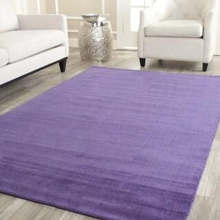 Handmade Safavieh 'Himalayan Solo' Purple Wool Rug