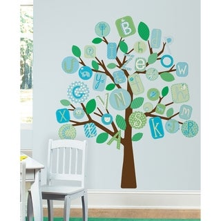 ABC Blue Tree Peel & Stick Giant Wall Decals