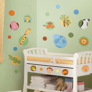 Jungle Animal Polka Dot Peel & Stick Wall Decals