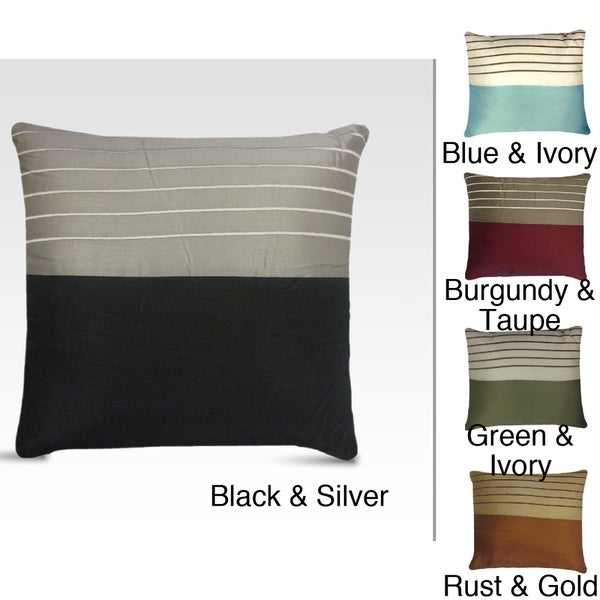 Rhythm Embroidered Square Decorative Pillow